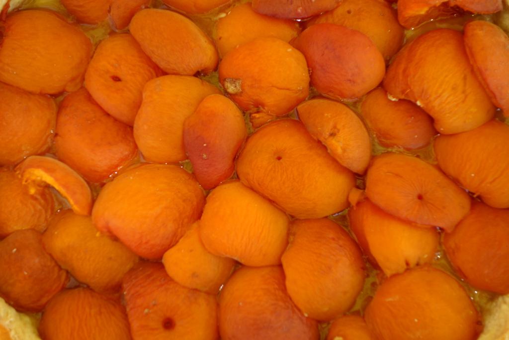 Tarte à l'abricot.